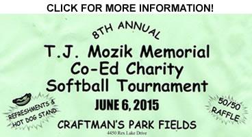 TJ Mozik 2015 Charity Softball Tournament