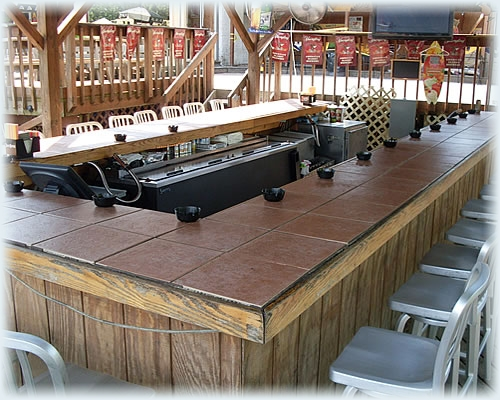 Outside Bar at the Upper Deck