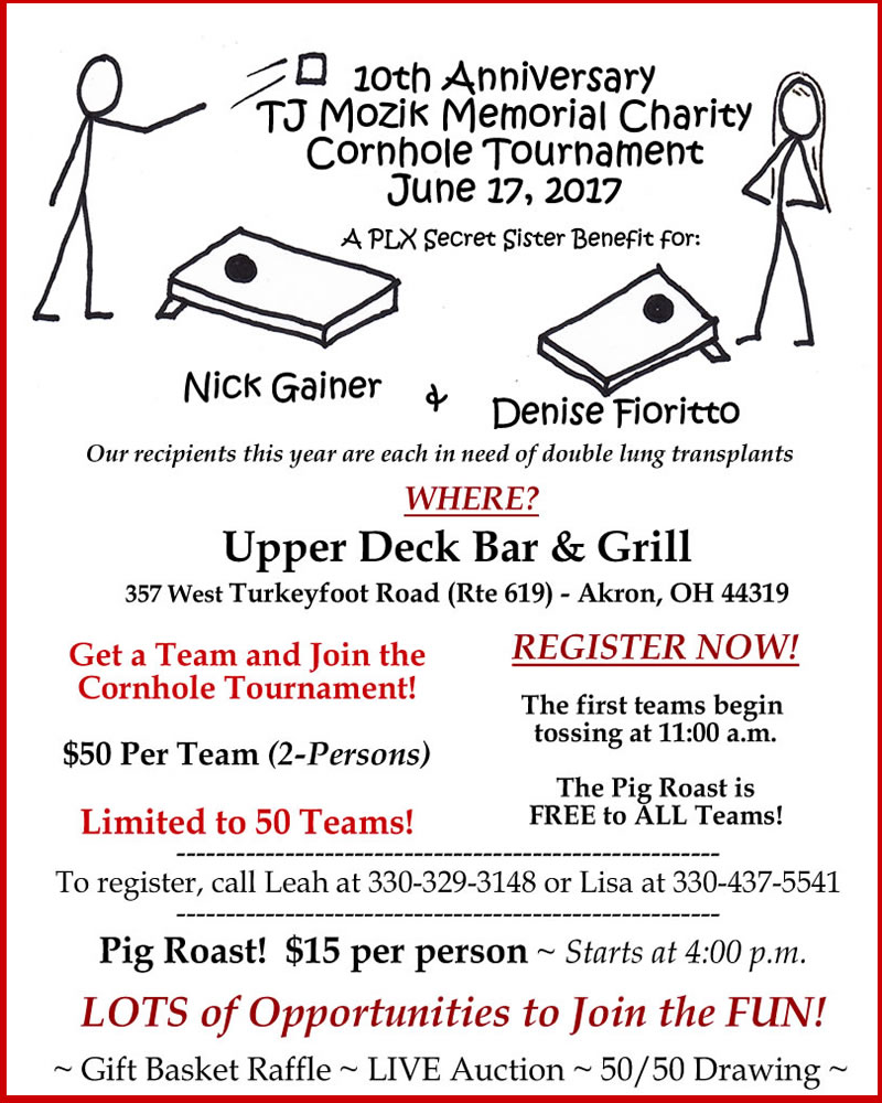 TJ Mozik Charity Cornhole Tournament 2017