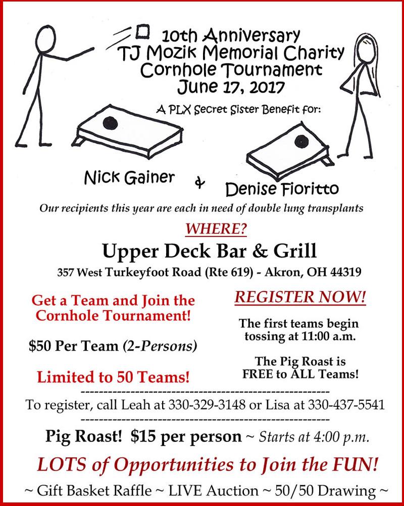 TJ Mozik Charity Cornhole Tournament 2017