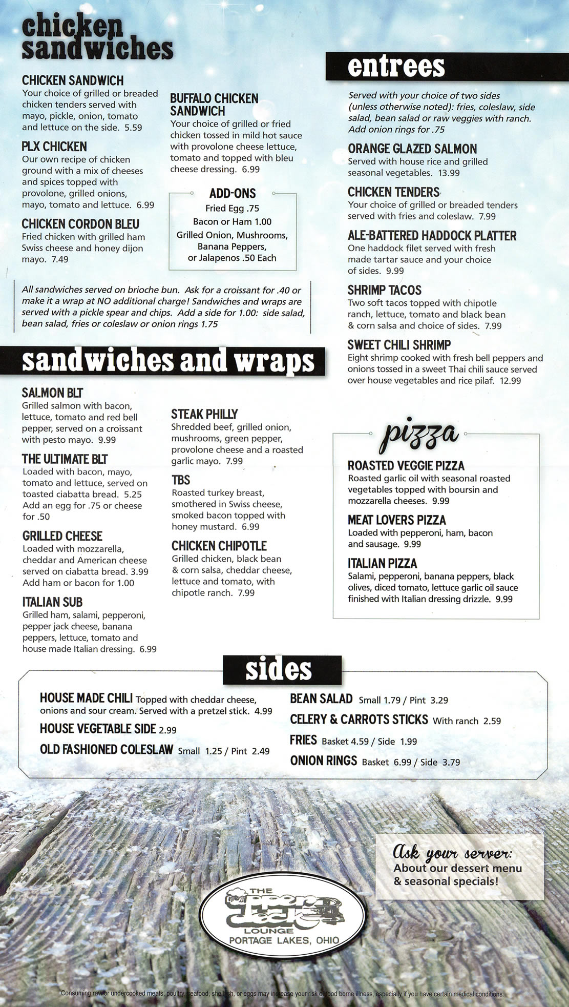 Upper Deck - Winter 2017 Menu