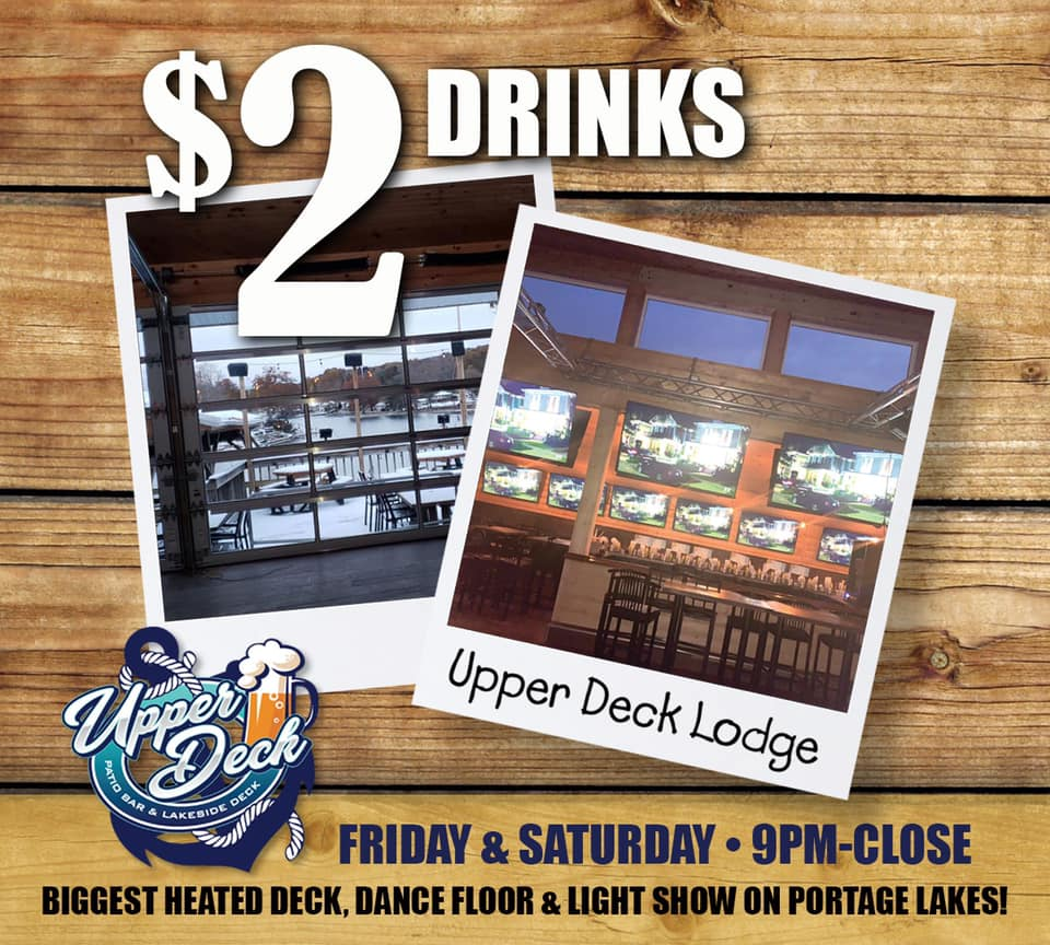 $2 Drinks Every Friday & Saturday from 9:00 pm – Close!