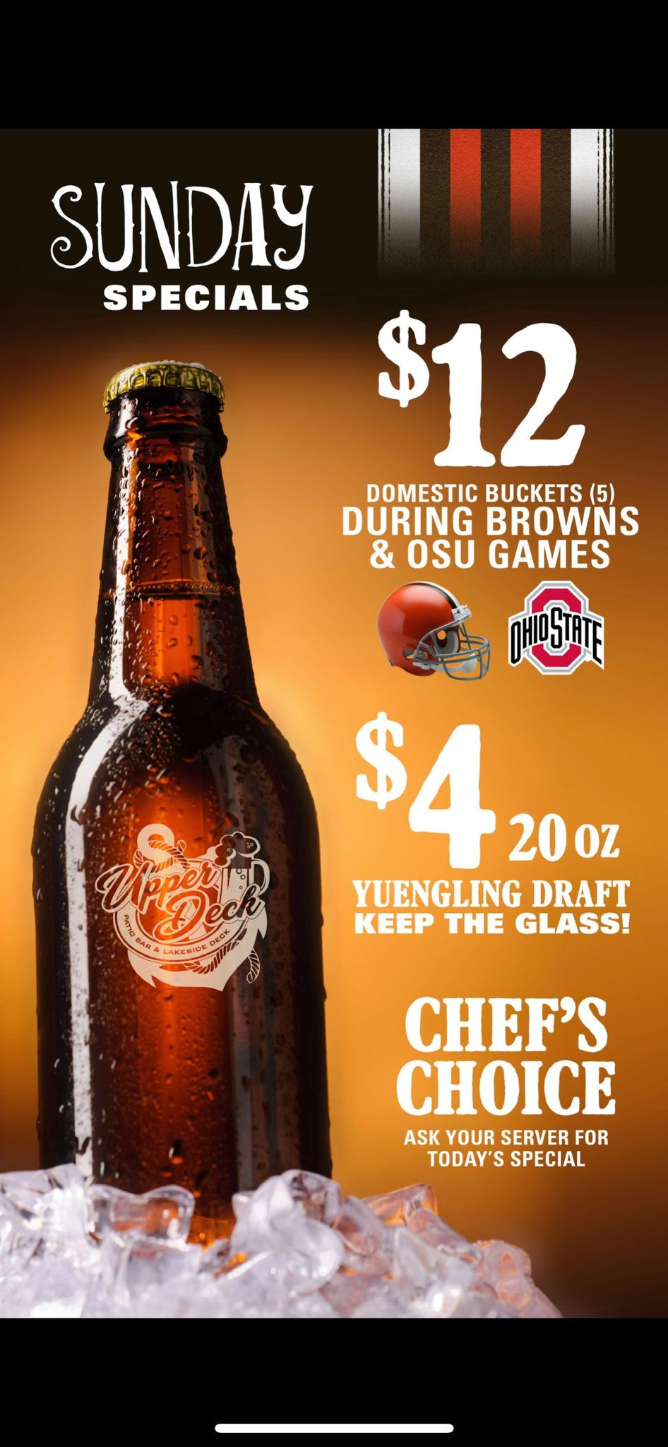Game Day Drink Specials!